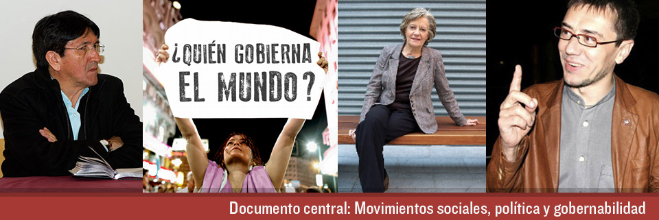 Documento central: Movimientos sociales, política y gobernabilidad.