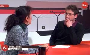 Captura de Sandra Campos en Público TV